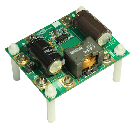 Figure 4: GaN Systems' EZDrive Evaluation Board, the GS65011L-EVBEZ.