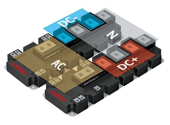 3L-NPC Inverter SEMITRANS® 10 MLI concept