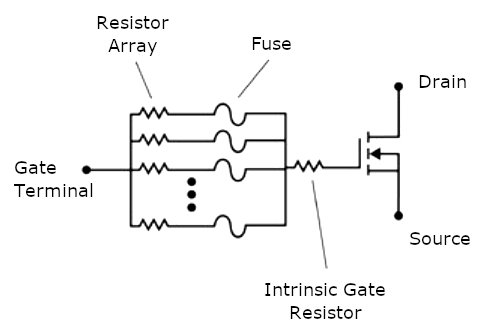 Transistor with configurable gate resistor