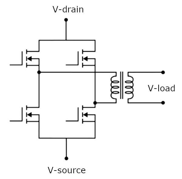H-bridge circuit configuration
