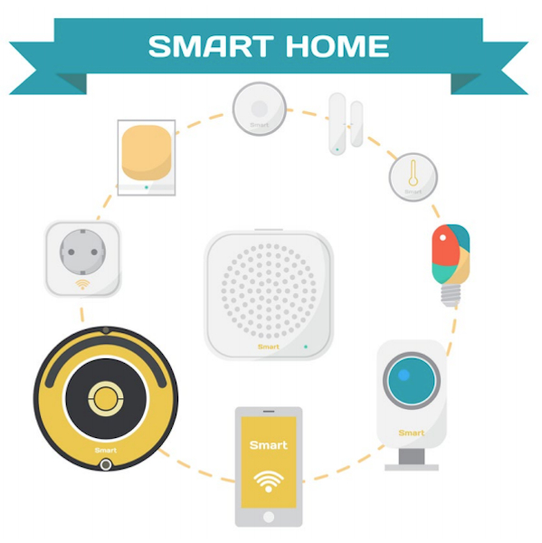Smart-home Hub Illustration
