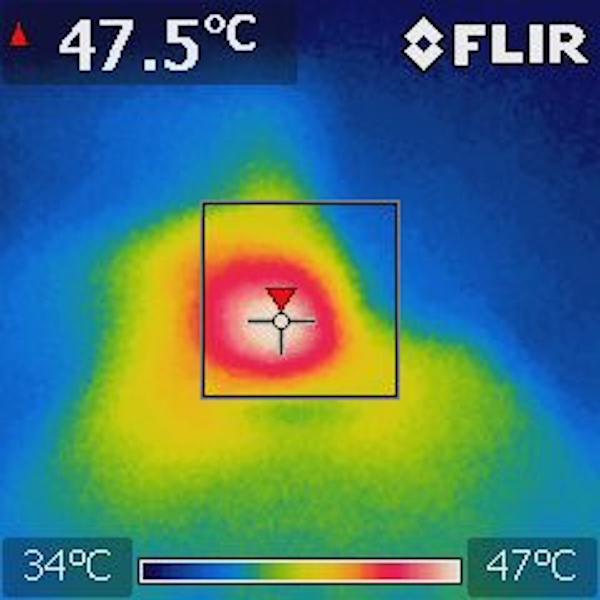 Thermal Image: 5V Input, 1.8V@1A, 1.2A@1A