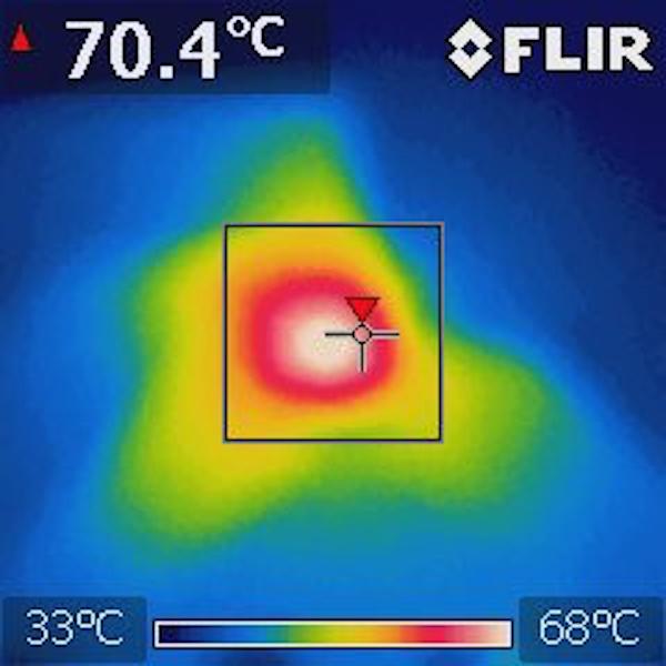 Thermal Image:5V Input, 1.8V@2A, 1.2A@2A