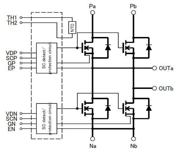 FMF800DX2-24A internal circuit diagram