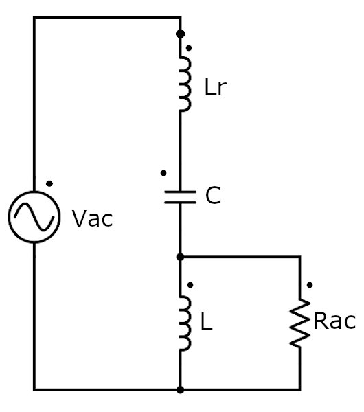 Small signal equivalent circuit of the RLLCC