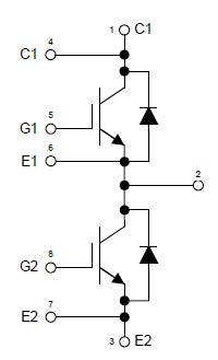 Dual switch IGBT module HiPak1