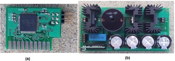 (a) MCU module and (b) Main Power Board with MCU module