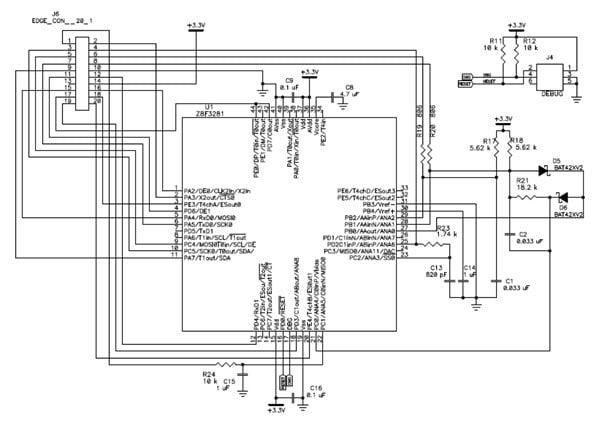 Detail schematic diagrams MCU Module