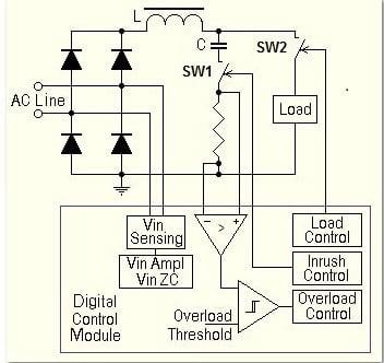Circuit Schematic for Digital Inrush Controller