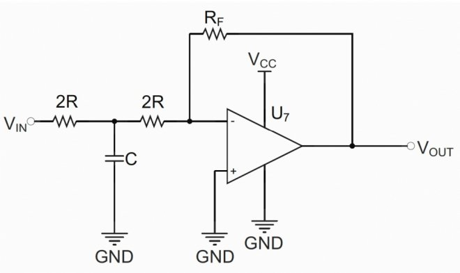 Inverting amplifier with EMI external filter