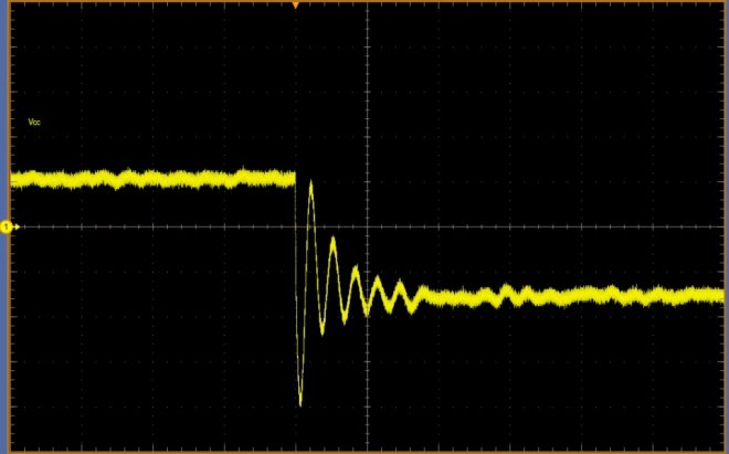 Transient waveform before optimization