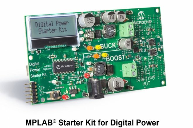 """MPLAB Starter Kit for Digital Power allows exploring the new dsPIC33EP """"GS"""" family used in popular digital power-conversion topologies"""