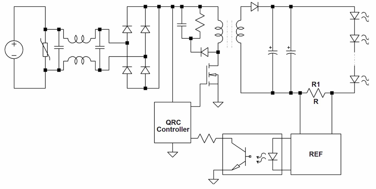 Single-stage flyback-based LED driver topology