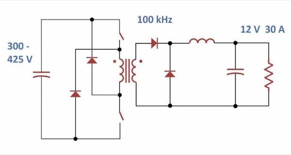 Two-Switch Forward Converter for 360 W Output