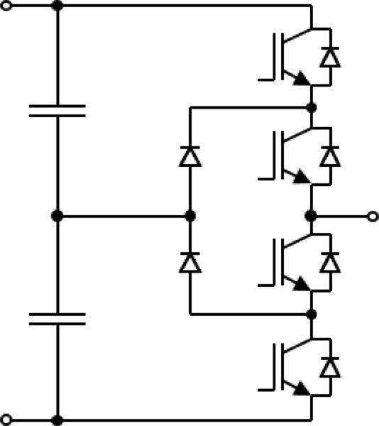 three-level neutral point clamping diodes (NPC-1, I-Type) inverter