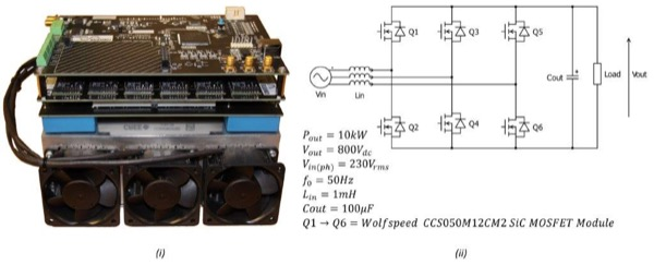 Converter Technology Hardware StackTM Rapid Prototyping System (ii) 10 kW Active Front End Schematic and Parameters
