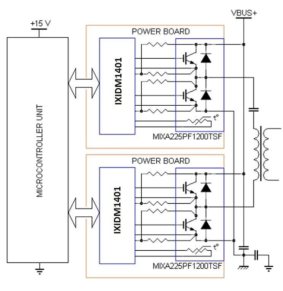 Typical Application Circuit of a Full-bridge Inverter