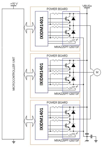 Typical Application Circuit of a Three-phase Motor Driver