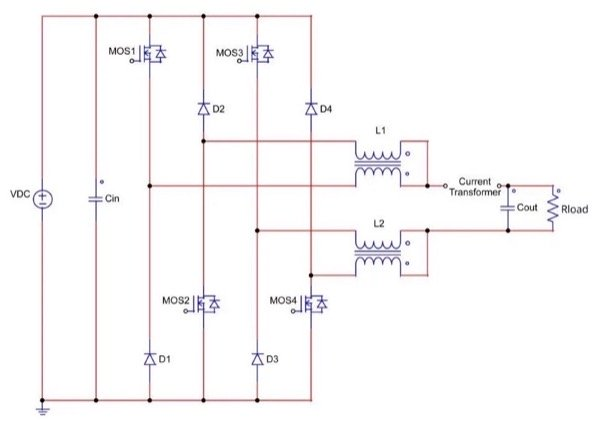 Dual Buck Inverter (Si MOSFETs and SiC Diodes)