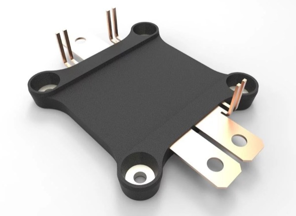 Direct cooled molded power module, top view