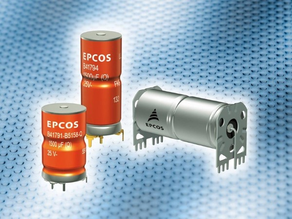 EPCOS aluminum electrolytic capacitors for automotive electronics are characterized by their extremely high vibration strength of up to 60 g and maximum operating temperatures of up to 150°C.