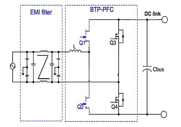 Figure 1: Typical BTP-PFC Circuit