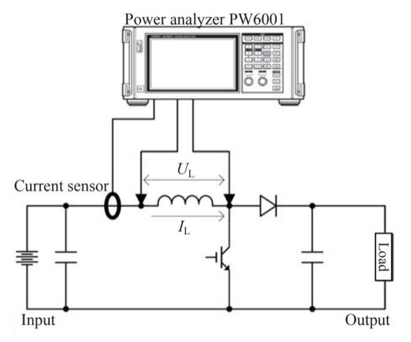 Measurement of reactor loss in a boost chopper circuit