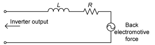 Equivalent circuit for a motor (1 phase)
