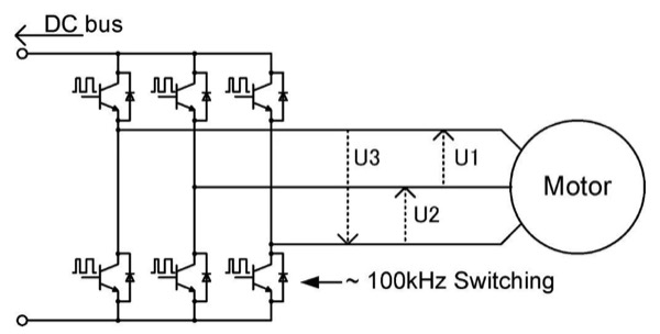 Wiring connections when measuring inverter output power (3P3W3M)