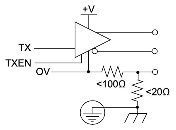 Controller transmitter circuit