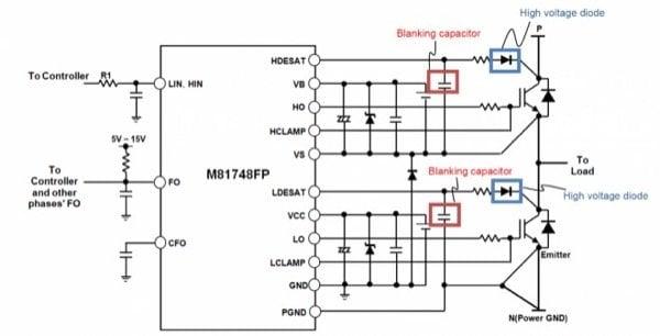 M81748FP application circuit
