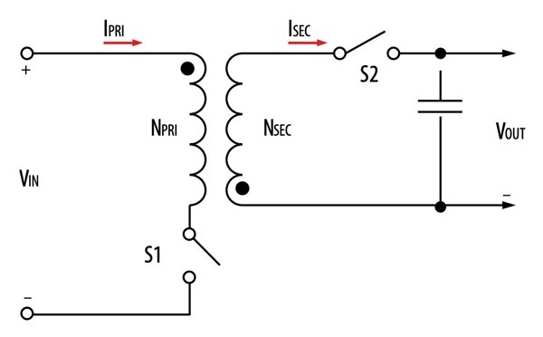 Simplified Flyback Topology Schematic