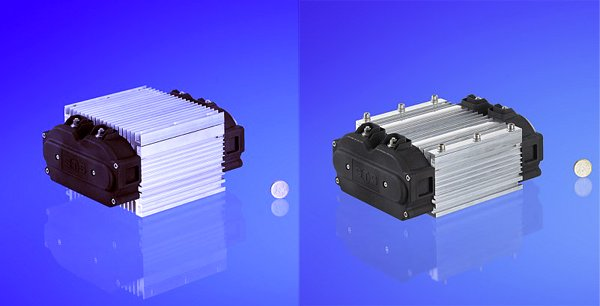 Optimized inductors for 3m/s forced air cooling (a) and cold plate mounting (b)