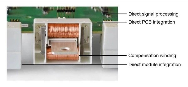An accurate closed-loop sensor in a SKiiP4 IPM with directly connected electronics