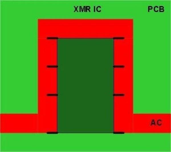New XMR sensor IC try to get rid of U shape) optional