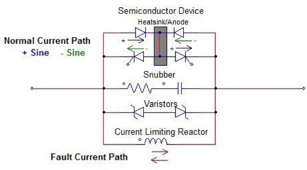 Solid-State Fault Current Limiter Single Line Schematic