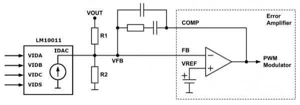 LM10011 VID Programmable Current DAC
