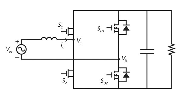Totem-pole PFC simplified schematic