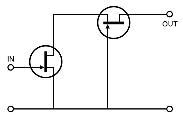 Basic cascode connection combines a grounded source transistor with a grounded gate one, creating an ideal compound transistor