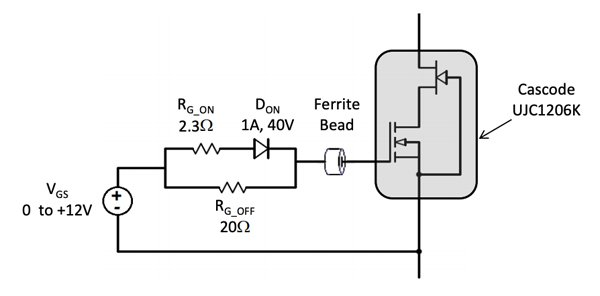 Recommended gate drive for SiC cascode
