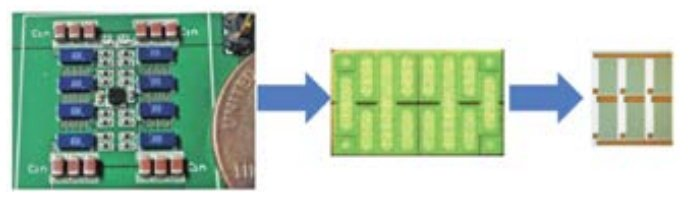 The evolution of eGaN technology from $12 B discrete transistors mounted on a printed circuit board, to integrated power devices, and finally to the 31.2B integrated power-plus-analog functionality Power Management Market.